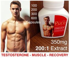 PURE TONGKAT ALI Longjack 200:1 Extract 350mg Pills Testosterone Booster Tablets