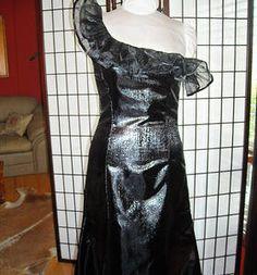 Black metallic one shoulder formal dress, Duda's Alterations Custom Made, One Shoulder, Metallic, Formal Dresses, Black, Dresses For Formal, Formal Gowns, Black People, Formal Dress