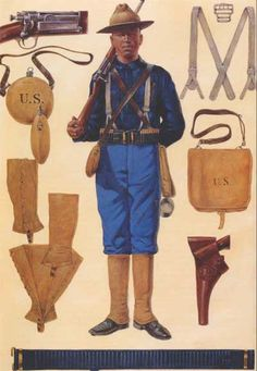 Spanish American War - U.S. Army regular.