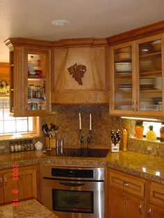 Tuscan Kitchen 2  stove in the corner..neat idea