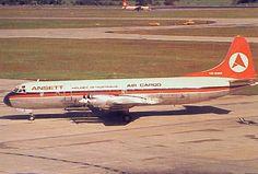 "ANSETT AIR CARGO ""AIRLINES OF AUSTRALIA"" LOCKHEED L-188 ELECTRA"