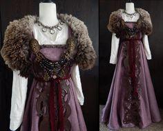 Image of Prune - Apron dress Viking Garb, Viking Dress, Medieval Dress, Viking Runes, Viking Clothing, Historical Clothing, Historical Photos, Period Outfit, Fantasy Dress