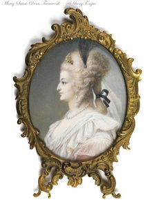 An 18th or 19th century portrait presumed to be Marie Antoinette.
