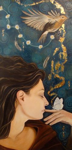 'Desires born of Dreams' u00a9 Jo Jayson 2011  oil and gold leaf on canvas