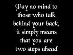 Pay no mind