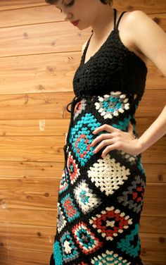crochet dress granny squares