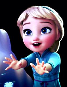 this is the adorable Elsa from the new Disney movie ''Frozen''. Elsa here is so young and sooo adorable! ntoice how happy and carefree she is Walt Disney, Frozen Disney, Film Frozen, Frozen And Tangled, Disney Films, Cute Disney, Disney And Dreamworks, Disney Magic, Disney Pixar