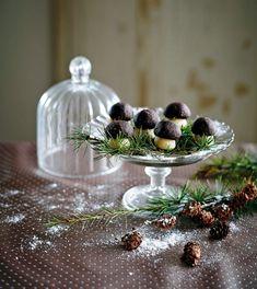 Mandlové hříbečky , Foto: Gurmet Panna Cotta, Cookies, Ethnic Recipes, Christmas, Pictures, Dekoration, Crack Crackers, Xmas, Dulce De Leche