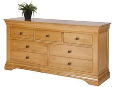 Bretagne Oak Chest of Drawers, 3  over 4 Drawers