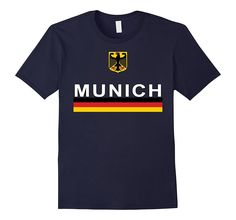 Munich City Germany Eagle Crest & Flag T-shirt