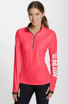 Free shipping and returns on Nike 'JDI Element' Half Zip Top at Nordstrom.com. This long-sleeve running top is cut from a sueded Dri-FIT fabric that helps wick away moisture and maintains core warmth for breathable dry comfort. Nike's reflective 'Just Do It' slogan along one sleeve helps keep you visible in low light.