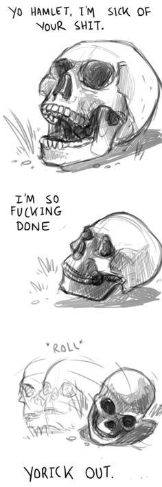 Alas, Poor Yorick. (source - http://onlyfoolsandvikings.tumblr.com/)