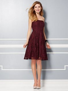 Eva Mendes Party Collection - Sadie Strapless Bow-Back Dress
