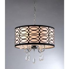 Warehouse of Tiffany Olga 4-Light Chrome Crystal Ceiling Light-RL4825 at The Home Depot