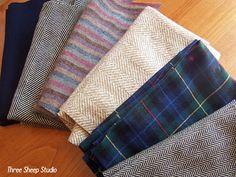 "ThreeSheepStudio: Repurposed Wool Series Part 3: How To ""Full"" Or Felt Wool..."