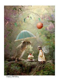 Fairy gift – Art Print or Ready to hang Plaque – Happy Birthday- Charlotte Bird – Best Painting Fantasy Kunst, Fantasy Art, Happy Birthday Fairy, Happy Birthday Beautiful Cousin, Happy Birthday Spiritual, Happy Birthday Artist, Art Birthday, Birthday Quotes, Birthday Wishes