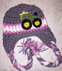 Crochet John Deere girl hat by crochetmomma2011 on Etsy https://www.etsy.com/listing/269617346/crochet-john-deere-girl-hat