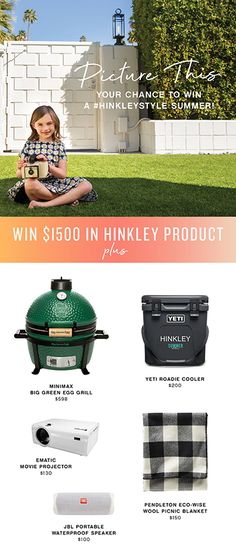 GIVEAWAY ALERT! Hinkley knows how to have fun, and we want to spread the love this summer to help you and yours enjoy the ultimate outdoor space. Inspired by our own mix of the coolest outdoor living solutions in lighting and ceiling fans, along with some of the season's best alfresco accessories, we are giving away: $1,500 credit in Hinkley lighting and/or ceiling fans | Minimax Big Green Egg Grill | Yeti Roadie Cooler | Pendleton Eco-Wise Wool Picnic Blanket | Ematic Movie Projector | JBL… Yeti Roadie, Big Green Egg Grill, Avon Lake, Movie Projector, Waterproof Speaker, Hinkley Lighting, Green Eggs, Ceiling Fans, Picnic Blanket
