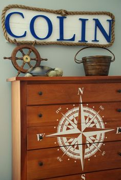 DIY Nautical Decor That Makes a Splash - For my son's room.