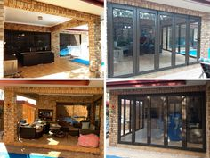 Enclosed Patio, Amazing Transformations, Folding Doors, Windows, Space, Outdoor Decor, Room, Home Decor, Accordion Doors