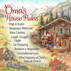 Decorative Wall Plaque: Oma House Rules - DutchNovelties   - #saying #inspirational #quote #gift #gifts #ideas #cute #wise #ceramic #products #tile #dutch #house #oma