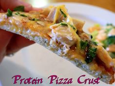 Bariatric-friendly Protein Pizza - YES PLEASE! This pizza crust recipe works perfectly with BariClear unflavored protein powder.  #wlsrecipes #bariatricfriendly