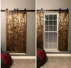 Sliding barn door shutters