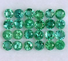 2.09 Cts Natural Emerald Round Cut Calibrated 2.75 mm Lot 25 Pcs Top Lustrous Loose Gemstones Semi Precious Gemstones, Loose Gemstones, Emerald Gemstone, Natural Emerald, Jewelry Sets, Top