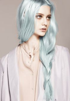 Icy Blue hair available at Super Cool Colour salon #BLEACHLONDON