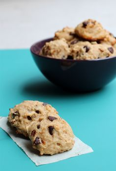 Banana Greek Yogurt Cookies ~ made with whole-grain flours and coconut oil