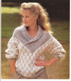 Slip stitch patterned knitted sweater pattern PDF by creativejems, £2.50