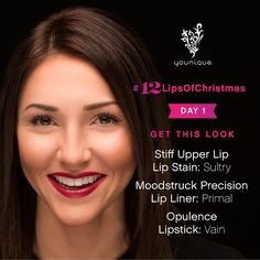 Welcome to the #12LipsOfChristmas! On the 1st Day we've got a gorgeous red lip look perfect for those holiday parties! Post your favorite lip looks with #12LipsOfChristmas & check back tomorrow for Day 2!