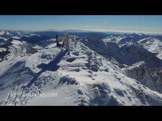 MONTAÑAS DE NIEVE: Filmación con drone del Aneto