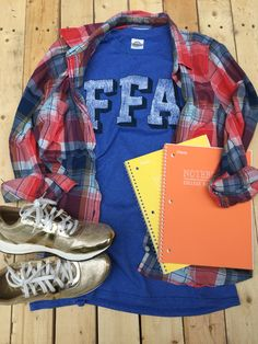 Back to school? FFA Logo Gear tees are the perfect addition to your closet! Dress them up or down and add as many layers as you want. Either way, these tees will bring that pop of color your closet has been looking for. #FFAstyle
