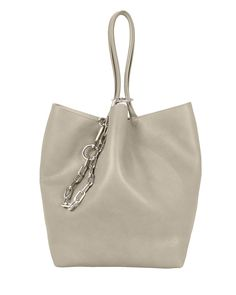 d251ae7f5b2d Roxy Small Grey Leather Tote