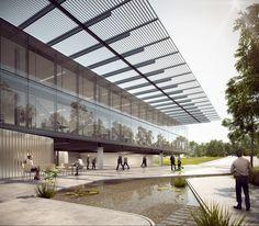 Primeiro lugar no concurso nacional para a nova sede do CAU/BR + IAB/DF,Cortesia de São Paulo Arquitetos e COA Associados
