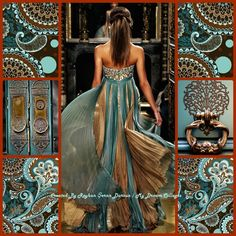 '' Turquoise and Brown '' by Reyhan Seran Dursun