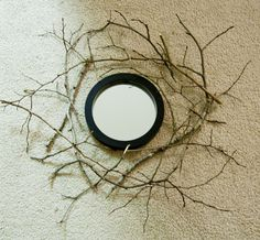Hirondelle Rustique: DIY: Gold Branch Mirror Tutorial