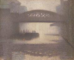 Adolphe Valette 1909 Windsor Bridge on the Irwell oil on jute x cm Manchester City Galleries UK Urban Landscape, Landscape Art, Landscape Paintings, Landscapes, French Impressionist Painters, Deviantart Drawings, Manchester Art, Manchester England, Musica