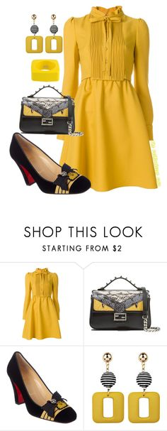 """""""The Fashionistas CLUB"""" by kemiakinajayi ❤ liked on Polyvore featuring Valentino, Fendi, Christian Louboutin and Dsquared2"""