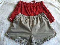 Retro Finish Line Running Athletic Shorts Lot 2 Womens Medium Fitness Gym Walk #FinishLine #Shorts