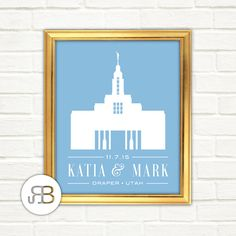 LDS Draper Utah Temple Personalized Printable by RoseBlossomPrints