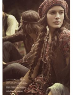 lonnng braid pigtails - boho chic