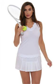 ce21cbffa30 JoFit Women s Barossa Sport White Dash Tennis Skirt