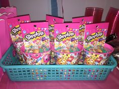Shopkins Cup, Sticker Book and Season 3 Two pack as party favors.