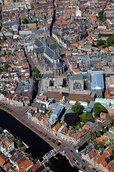 Haarlem van bovenaf gezien