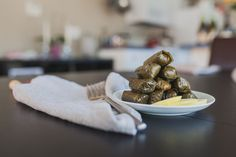 Dolmas are surprisingly easy to make and always become a hit at any tapas-themed party. Grab some La Crema Monterey Chardonnay to pair, and you're all set! Tapas Recipes, Party Recipes, Vegan Gluten Free, Vegan Vegetarian, Stuffed Grape Leaves, Tapas Party, Cabbage Rolls, Food To Go, Veggies