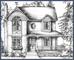 Victorian Farm Houses in 1900 | Victorian and Country House Plans: Victorian, Mission, Gothic old