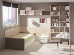 amenagement-chambre-ado-garcon-meubles-en-bois-clair-moquette-beige
