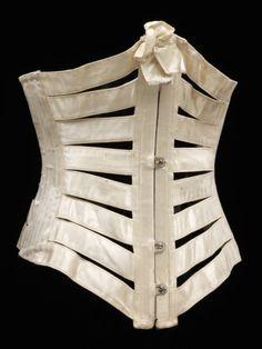 Ephemeral Elegance  Ribbon Corset, ca. 1895  via V&A